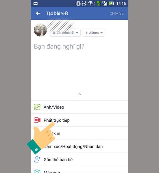 Cách Live stream Facebook trên điện thoại siêu dễ dàng