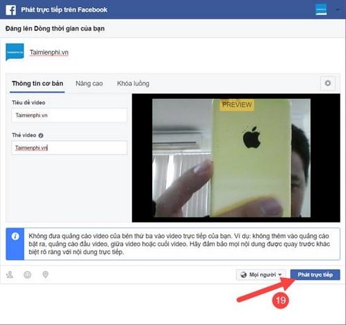 Cách phát trực tiếp Facebook, phát video trực tiếp trên Facebook