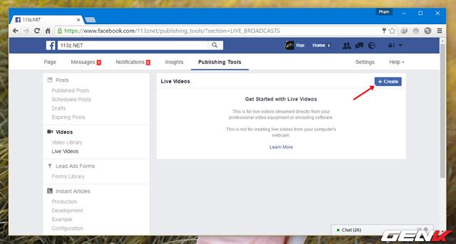 Hướng dẫn mở tính năng Live Stream miễn phí trên Facebook Fanpage