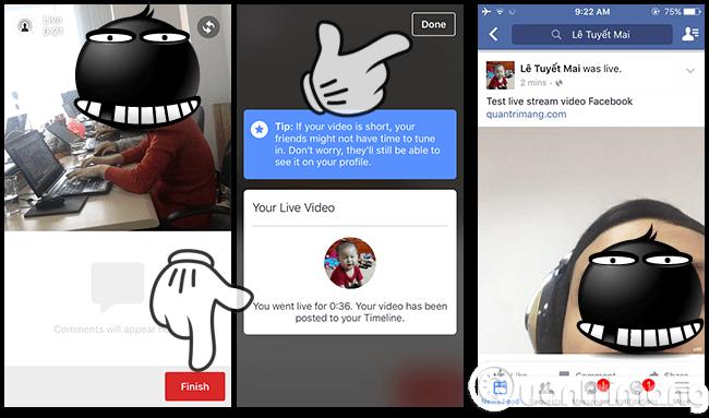 Hướng dẫn cách bật tính năng Live Stream Video Facebook trên smartphone, tablet