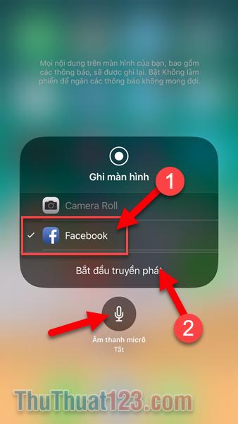 Hướng dẫn cách Live Stream phát trực tiếp màn hình iPhone lên Facebook không qua ứng dụng