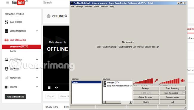 Hướng dẫn phát video trực tiếp trên Youtube bằng máy tính PC