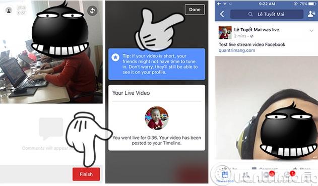 Hướng dẫn cách cài đặt tính năng phát trực tiếp trên facebook