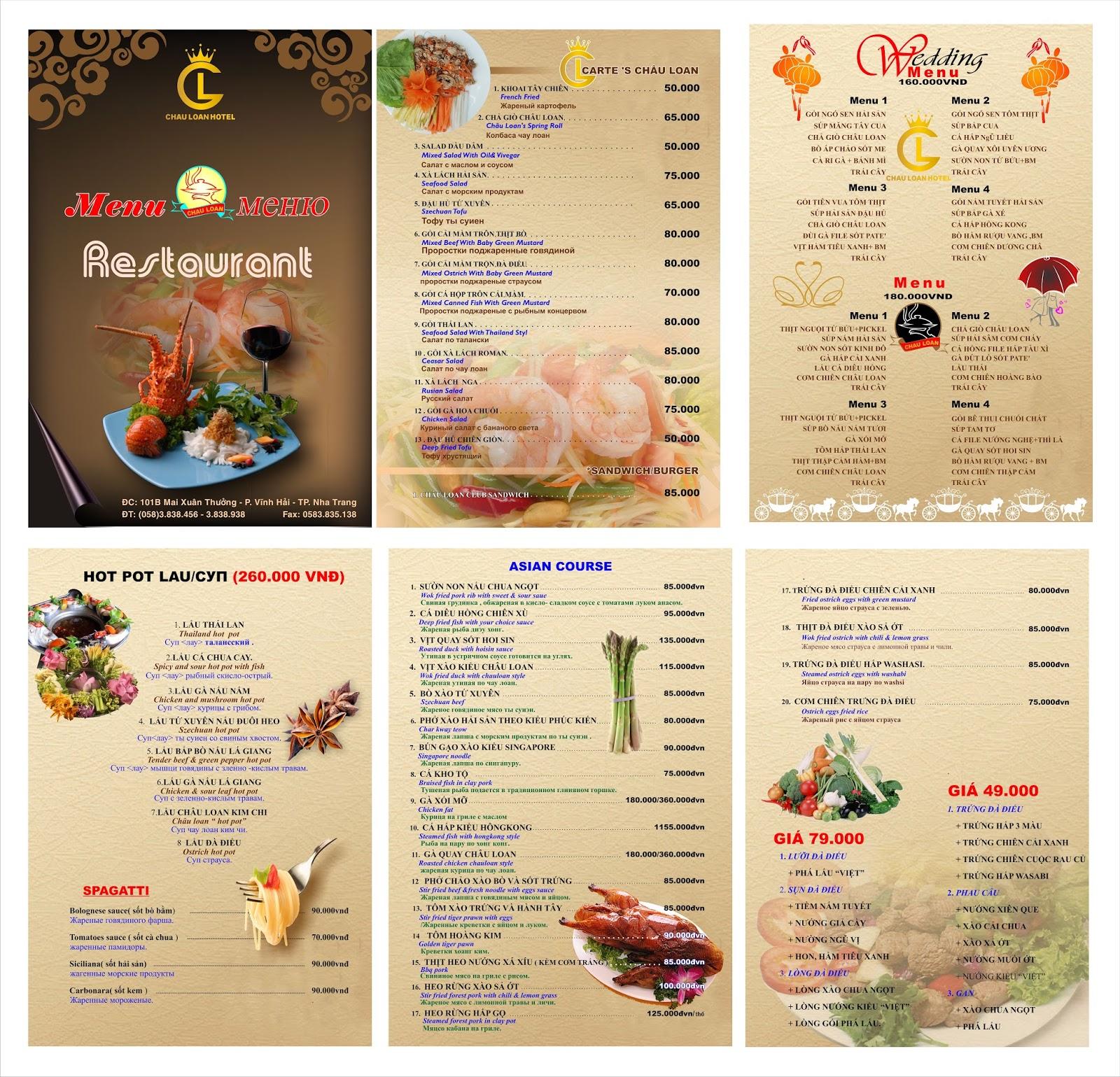 Nguyên tắc xây dựng menu nhà hàng hiệu quả
