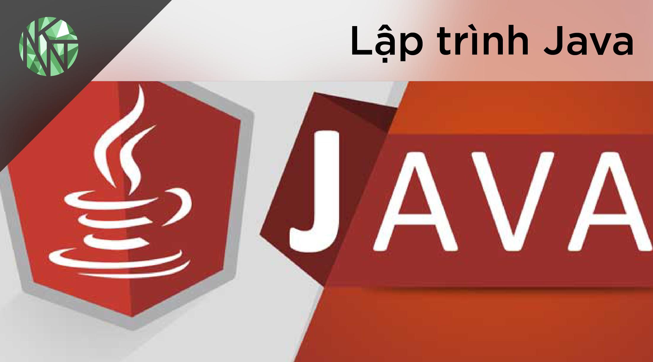 Học lập trình Java cho bạn