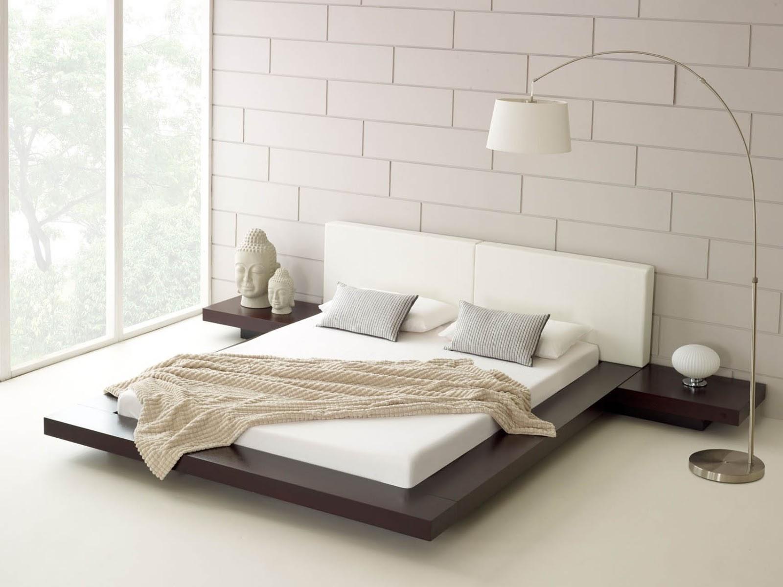 Giường ngủ kiểu Nhật đẹp sang trọng với gỗ tự nhiên nguyên khối