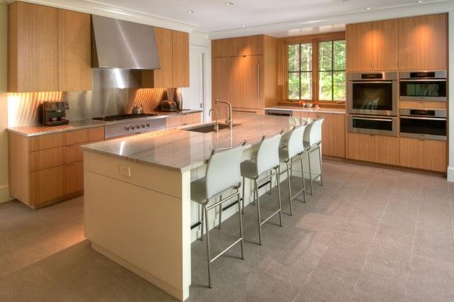 Thiết kế phòng bếp theo phong cách Nhật với nội thất gỗ là chính